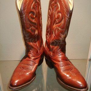 Dan Post Antique Brown Cowboy Boots - 9